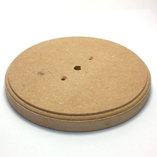 165mm Diameter 18mm Thick MDF Ceiling Rose Pattress or Plinth Ideal For Painting